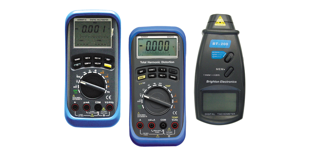 digital multimeters and photo & contact tachometer