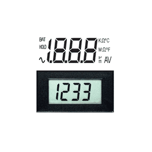 digital panel meter - miniature lcd voltmeters