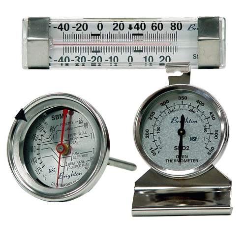 oven, refrigerator, freezer thermometers