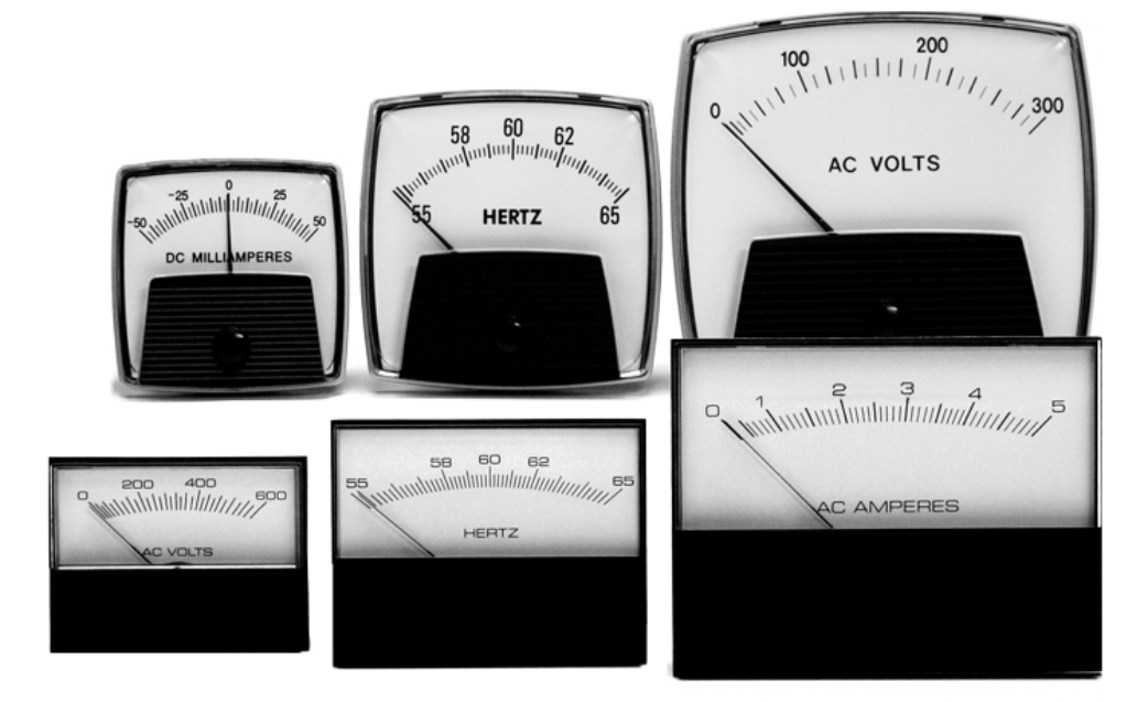Panel Meter - Analog voltmeters & ammeters